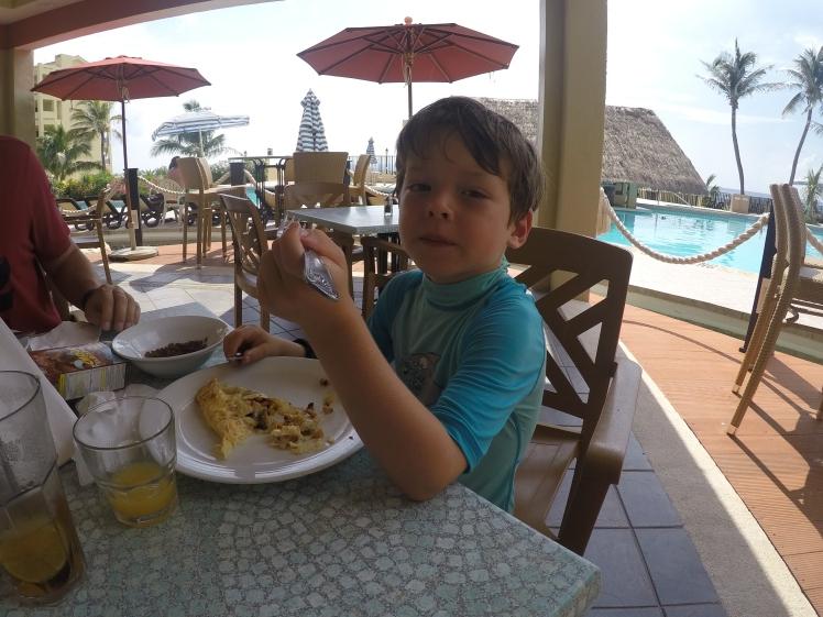 Petit dej à Cancun..